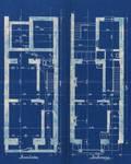 Avenue Clays 49 et 47, Schaerbeek, plans des deux premiers niveaux, ACS/Urb. 49-47-49 (1902).
