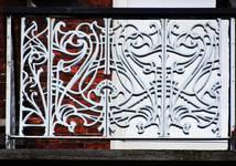 Leuvensesteenweg 231, Sint-Joost-ten-Node, derde verdieping, borstwering van het terras (© APEB, foto 2016).
