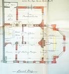 Avenue des Azalées 8-9, Schaerbeek, projet de transformations en 1921, plan du second étage, architecte R. Serrure, ACS/Urb. 20-8-9 (1921).