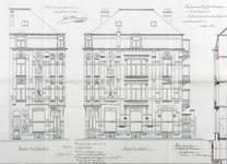 Rue Victor Lefèvre 61 et rue de Linthout 88, Schaerbeek, élévations, ACS/Urb. 173-88 (1910).
