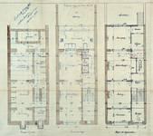 Avenue Louis Bertrand 43, Schaerbeek, plans des trois premiers niveaux, ACS/Urb. 176-43 (1906).