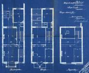 Avenue Clays 49 et 47, Schaerbeek, plans des quatre niveaux supérieurs, ACS/Urb. 49-47-49 (1902).