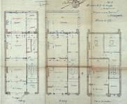 Avenue Louis Bertrand 43, Schaerbeek, plans des trois niveaux supérieurs, ACS/Urb. 176-43 (1906).