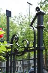 Boulevard Lambermont 150, Schaerbeek, grille du jardinet, pan droit (© APEB, photo 2016).