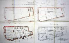 Rue Victor Lefèvre 61 et rue de Linthout 88, Schaerbeek, plans des niveaux, ACS/Urb. 173-88 (1910).