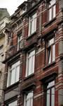 Josaphatstraat 338-340 en 334-336, Schaarbeek, erker (© APEB, foto 2013).