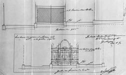 Boulevard Lambermont 150, Schaerbeek, projet des grilles du jardinet, ACS/Urb. 164-150 (1910).