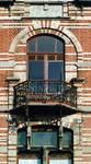 Avenue Van Cutsem 29, Tournai, étage, fenêtre gauche (© APEB, photo 2002).