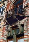 Avenue Van Cutsem 29, Tournai, balcon (© APEB, photo 2002).
