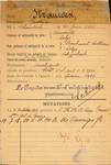 Fiche d'identité militaire de Gustave Strauven, recto (Centre de documentation historique de l'Armée belge).