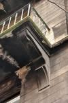 Rue Josaphat 275-277, Schaerbeek, premier étage, balcon (© APEB, photo 2016).