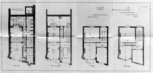 Boulevard Clovis 85-87, Bruxelles Extension Est, premier projet, plans des quatre niveaux, AVB/TP 25399 (1899).