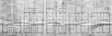 Boulevard des Déportés 34 et 36, Tournai, plans des niveaux, AET/Ville de Tournai/Voirie 19347/Plans 4895 (1907).