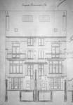 Boulevard des Déportés 34 et 36, Tournai, élévations arrière, AET/Ville de Tournai/Voirie 19347/Plans 4895 (1907).
