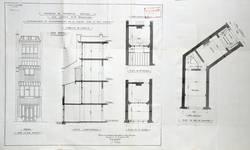 Rue Luther 28, Bruxelles Extension Est, projet d'extension arrière, état actuel, AVB/TP 28110 (1923).