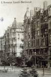 Avenue Louis Bertrand 63-65 et 53-61, Schaerbeek, détail d'une carte postale ancienne (Maison des Arts de Schaerbeek).