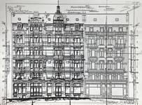 Avenue Louis Bertrand 63-65 et rue Josaphat 334-336, 338-340, Schaerbeek, élévations, ACS/Urb. 176-63 (1906).