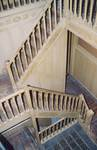 Square Ambiorix 11, Bruxelles Extension Est, cage d'escalier centrale (© SPRB-BDU, photo APEB 2003).