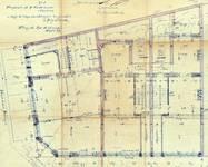 Avenue Louis Bertrand 63-65 et rue Josaphat 334-336, 338-340, Schaerbeek, plan du rez-de-chaussée, ACS/Urb. 176-63 (1906).
