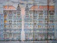 Avenue Louis Bertrand 53-61, Schaerbeek, élévations (F. Borsi, H. Wieser, Bruxelles Capitale de l'Art Nouveau, édition J.-M. Collet, Braine l'Alleud, 1996, p. 161).