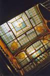 Square Ambiorix 11, Bruxelles Extension Est, verrière de la cage d'escalier centrale (© SPRB-BDU, photo APEB 2003).