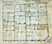 Rue Josaphat 271-273, 275-277 et avenue Louis Bertrand 53-61, Schaerbeek, plan des rez-de-chaussée, ACS/Urb. 176-55-61 (1906).