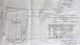 Louis Bertrandlaan 61, Schaarbeek, ontwerp wijziging van een venster, GAS/DS 176-55-61 (1907).