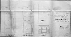 Rue Josaphat 338-340, Schaerbeek, projet de nouvelle devanture, état existant, ACS/Urb. 176-63 (1950).