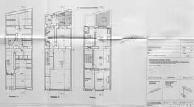 Rue Josaphat 334-336, Schaerbeek, projet de réaménagement (refusé), trois premiers niveaux, état en 2006, ACS/Urb. 176-63 (2006).