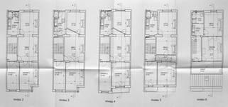 Rue Josaphat 334-336, Schaerbeek, projet de réaménagement (refusé), cinq derniers niveaux, état en 2006, ACS/Urb. 176-63 (2006).