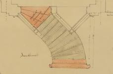 Square Ambiorix 11, Bruxelles Extension Est, croquis modificatif pour le perron, AVB/TP 122 (1900).