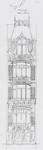 Square Ambiorix 11, Bruxelles Extension Est, deuxième projet, élévation, AVB/TP 122 (1900).