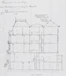 Square Ambiorix 11, Bruxelles Extension Est, deuxième projet, coupe longitudinale, AVB/TP 122 (1900).