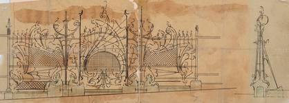 Square Ambiorix 11, Bruxelles Extension Est, projet pour la grille du jardinet, AVB/TP 122 (1900).