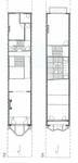 Square Ambiorix 11, Bruxelles Extension Est, plans des troisième et quatrième niveaux (P. Van Dijk, D. Maher, F. Mahieu, <i>Maison Saint-Cyr. Square Ambiorix 11, Brussels</i>, KULeuven, Project Work 1996-1997).