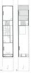 Square Ambiorix 11, Bruxelles Extension Est, plans des deux niveaux supérieurs (P. Van Dijk, D. Maher, F. Mahieu, <i>Maison Saint-Cyr. Square Ambiorix 11, Brussels</i>, KULeuven, Project Work 1996-1997).
