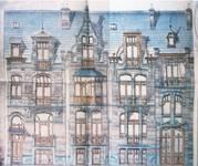Avenue Van Cutsem 27 et 28-8b, Tournai, élévations, AET/Ville de Tournai/Voirie 16740/Plans 4487 (1904).
