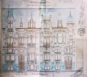 Avenue Van Cutsem 29 et rue des Volontaires 1, Tournai, élévations, AET/Ville de Tournai/Voirie 16740/Plans 4487 (1904).
