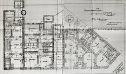 Avenue Van Cutsem 27 à 29 et rue des Volontaires 1, Tournai, plan des demi sous-sols, AET/Ville de Tournai/Voirie 16740/Plans 4487 (1904).