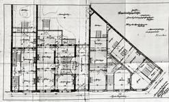 Avenue Van Cutsem 27 à 29 et rue des Volontaires 1, Tournai, plan des rez-de-chaussée, AET/Ville de Tournai/Voirie 16740/Plans 4487 (1904).