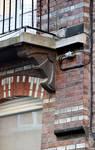 Rue Vanderhoeven 22, Saint-Josse-ten-Noode, premier étage, console droite du balcon (© APEB, photo 2015).