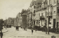 Vue du square Ambiorix vers 1910 (Collection Belfius Banque © ARB-SPRB).