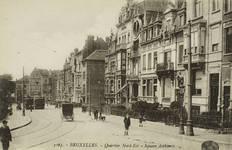 Vue du square Ambiorix vers 1910 (Collection Belfius Banque © ARB-SPRB).