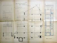 Rue Souveraine 52, Ixelles, élévations et coupe longitudinale, ACI/Urb. 281-52 (1899).