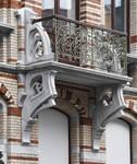 Rue Saint-Quentin 32, Bruxelles Extension Est, balcon (© APEB, photo 2016).