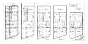 Rue Washington 127, Ixelles, plans des cinq niveaux, ACI/Urb. 314-127 (1911).