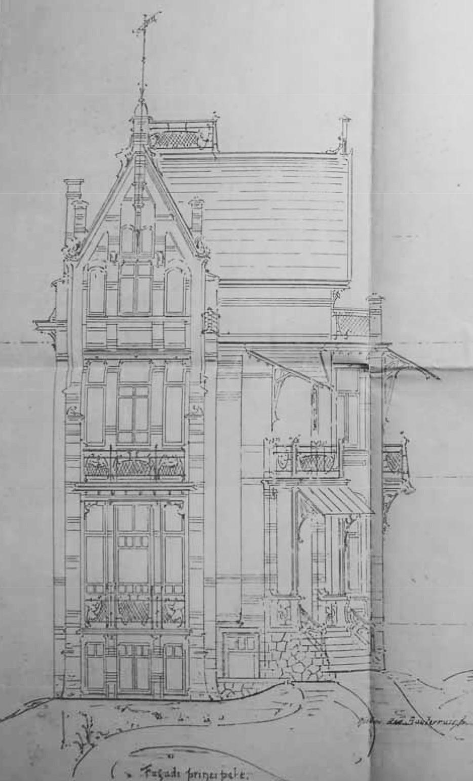Projet De Villa à Construire En Périphérie Bruxelloise, 1899 1900 (Carlo R.